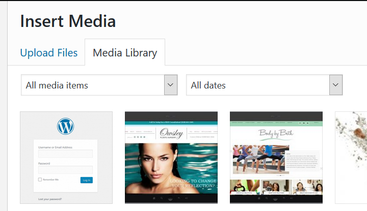 Media Library screenshot | Godwin Marketing Communications