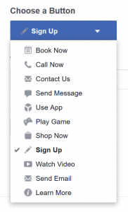 Facebook Call to Action Options | Godwin Marketing Communications